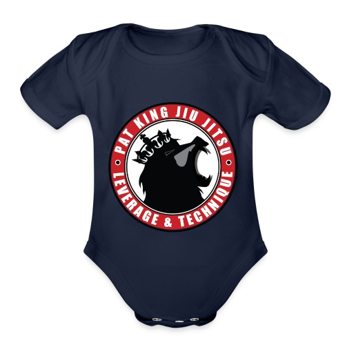 PK Merch grey22 - Organic Short Sleeve Baby Bodysuit