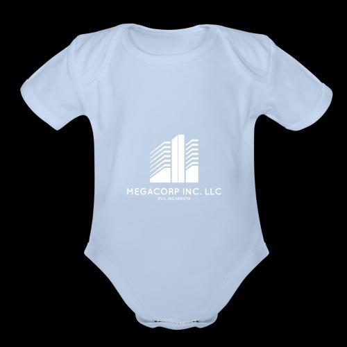 MEGACORP - GIANT EVUL CORPORATION - Organic Short Sleeve Baby Bodysuit