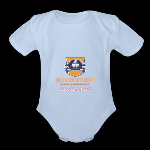 CLASSIC CARS! CLASSIC HOLLYWOOD! - Organic Short Sleeve Baby Bodysuit
