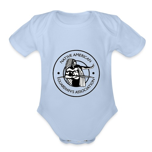 Naga LOGO Outlined - Organic Short Sleeve Baby Bodysuit