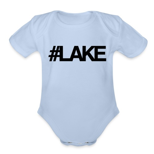 #Lake - Organic Short Sleeve Baby Bodysuit