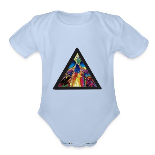 collapse - Organic Short Sleeve Baby Bodysuit