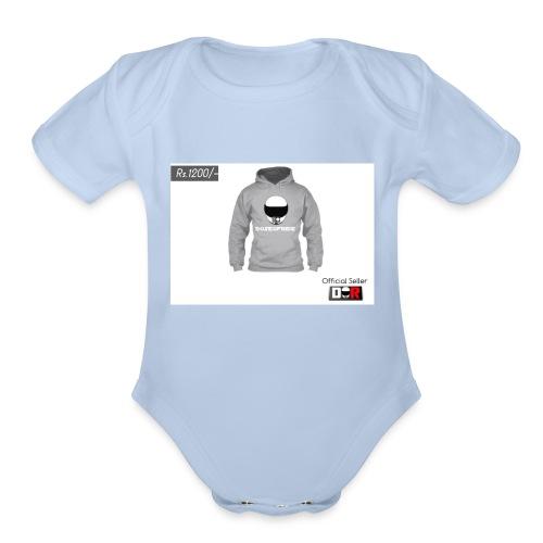 Winter Hoodie by DoseOfRide   Rs.1200/- - Organic Short Sleeve Baby Bodysuit