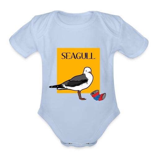 LE SEAGULL - Organic Short Sleeve Baby Bodysuit