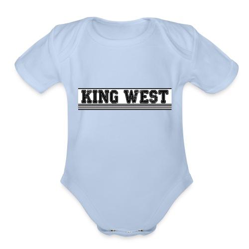 King West OG logo - Organic Short Sleeve Baby Bodysuit