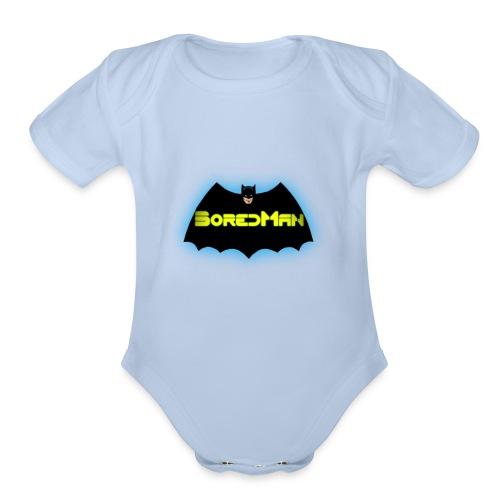 Boredman - Organic Short Sleeve Baby Bodysuit