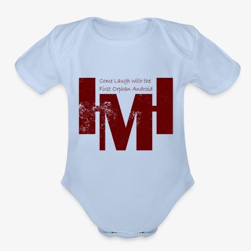 YouTube's Master Human: Grunge Underground Logo - Organic Short Sleeve Baby Bodysuit