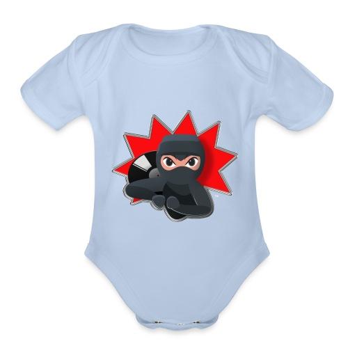 MERACHKA ICON LOGO - Organic Short Sleeve Baby Bodysuit