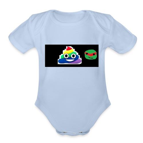 ninja poop - Organic Short Sleeve Baby Bodysuit