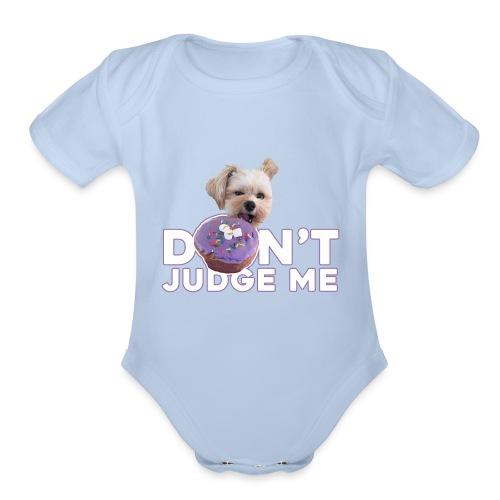 Popeye Don't Judge - Organic Short Sleeve Baby Bodysuit