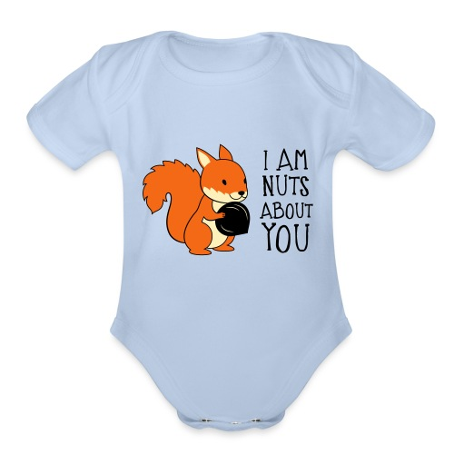 I am nuts about you - Organic Short Sleeve Baby Bodysuit