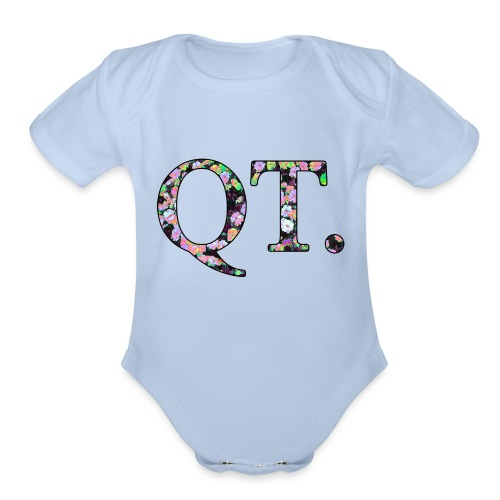 QT AND CUTE - Organic Short Sleeve Baby Bodysuit