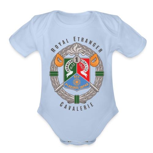 1er REC - 1 REC - Legion - Badge - Dark - Organic Short Sleeve Baby Bodysuit