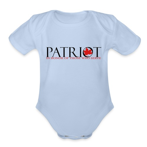 CDN PATRIOT_LOGO_1 - Organic Short Sleeve Baby Bodysuit