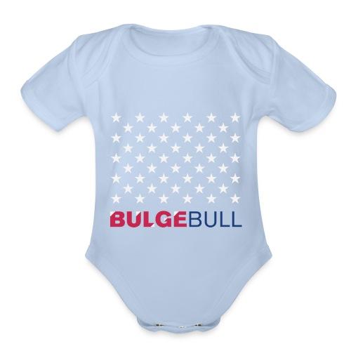 BULGEBULL JULY 4TH - Organic Short Sleeve Baby Bodysuit