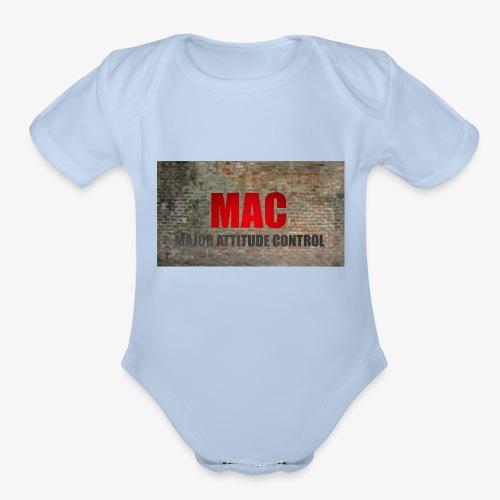 MAC LOGO - Organic Short Sleeve Baby Bodysuit