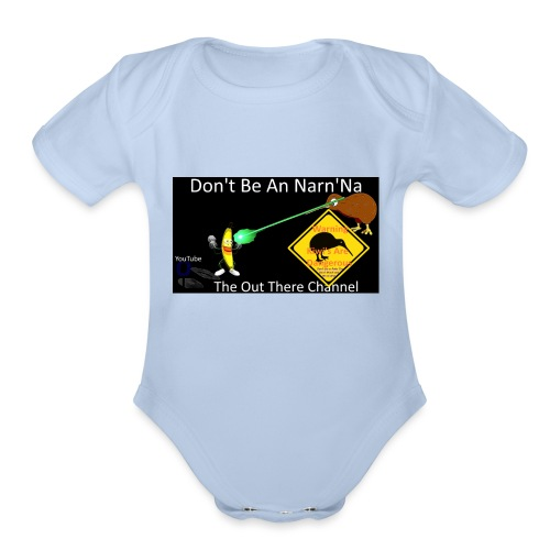 NarnNa1Tshirt with Crew Back Logo - Organic Short Sleeve Baby Bodysuit