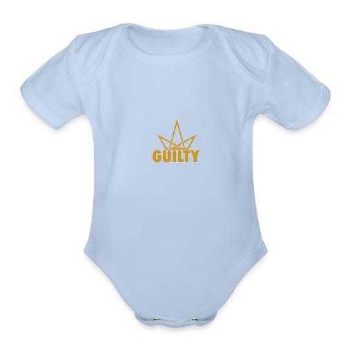 Guilty Logo - Organic Short Sleeve Baby Bodysuit
