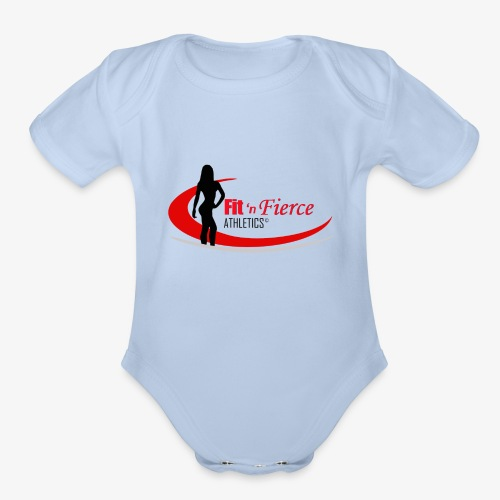 Fit 'n Fierce Athletics full logo - Organic Short Sleeve Baby Bodysuit