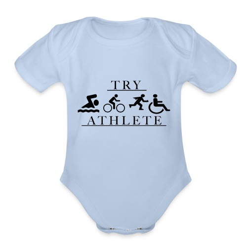 TRY ATHLETE - Organic Short Sleeve Baby Bodysuit