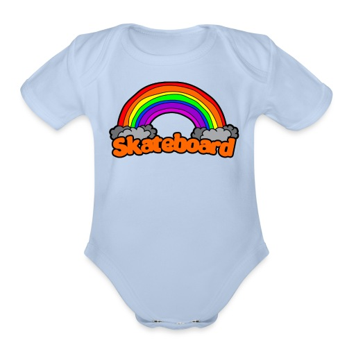SK8 THE RAINBOW - Organic Short Sleeve Baby Bodysuit