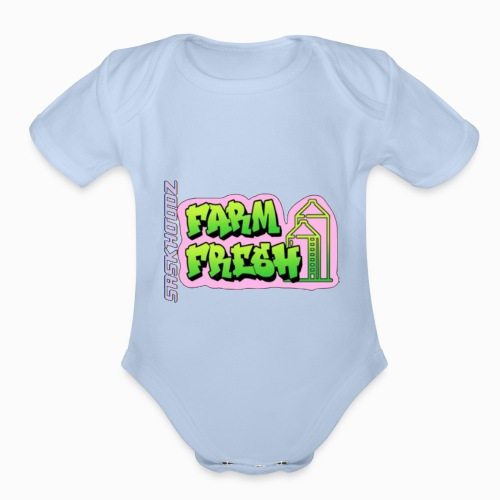 saskhoodz farming - Organic Short Sleeve Baby Bodysuit