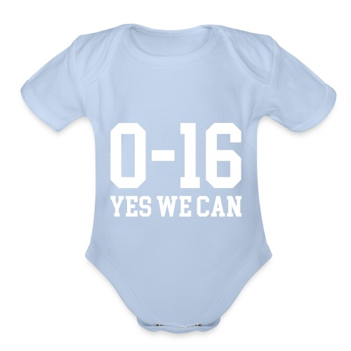 Detroit Lions 0 16 Yes We Can - Organic Short Sleeve Baby Bodysuit