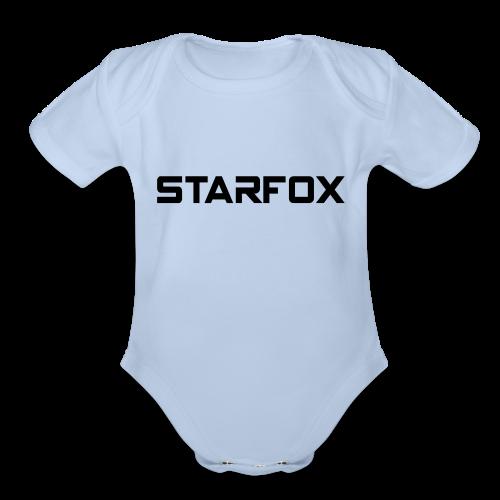 STARFOX Text - Organic Short Sleeve Baby Bodysuit