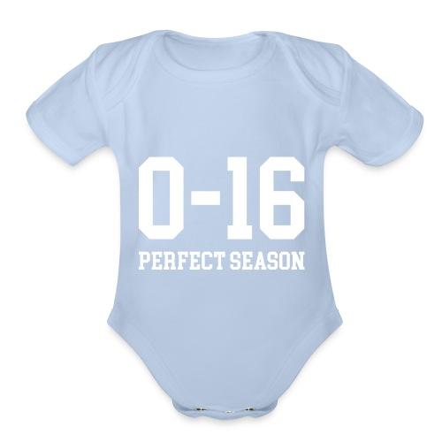 Detroit Lions 0 16 Perfect Season - Organic Short Sleeve Baby Bodysuit