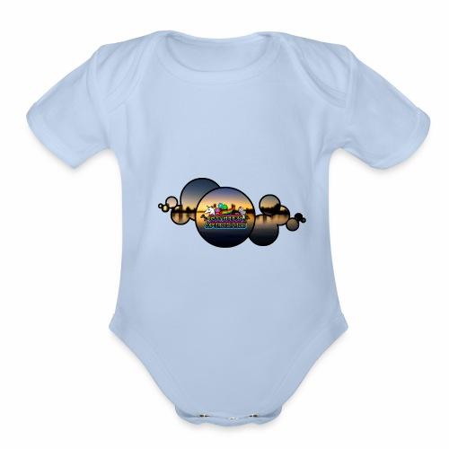 GGAH Bubbles - Organic Short Sleeve Baby Bodysuit