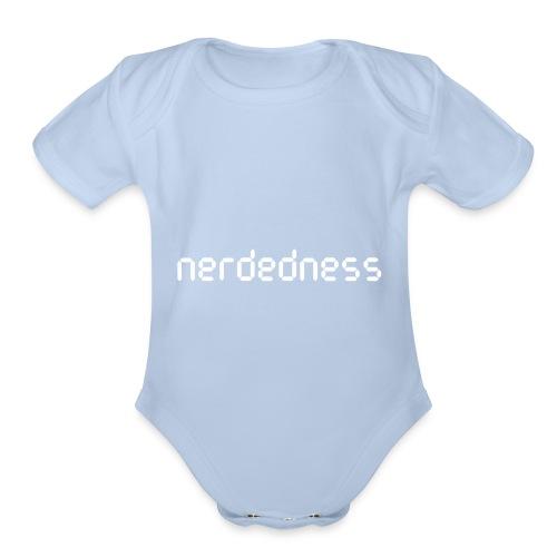 nerdedness segment text logo - Organic Short Sleeve Baby Bodysuit