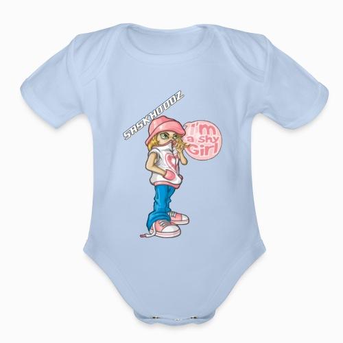 saskhoodz girl - Organic Short Sleeve Baby Bodysuit