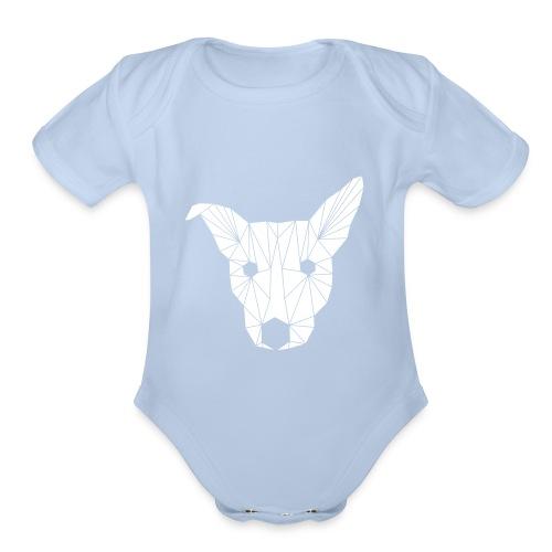 ruckusgeo white - Organic Short Sleeve Baby Bodysuit