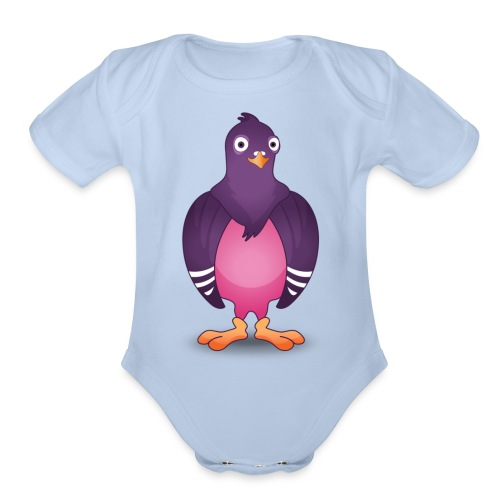 Pidgin logo - Organic Short Sleeve Baby Bodysuit