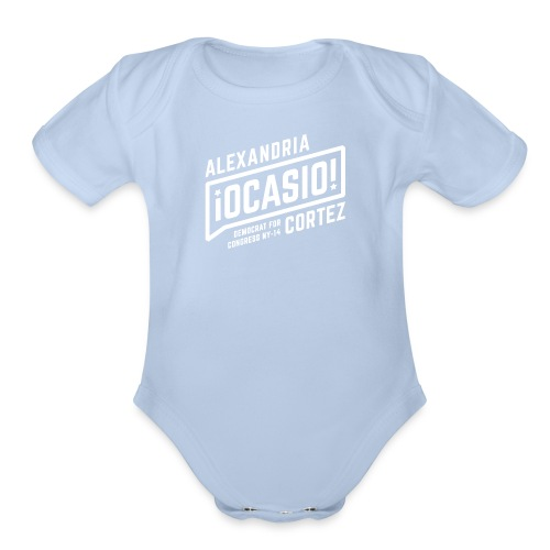 alexandria ocasio cortez art - Organic Short Sleeve Baby Bodysuit