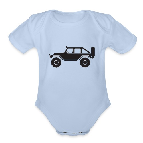 Off Road 4x4 Silhouette - Organic Short Sleeve Baby Bodysuit
