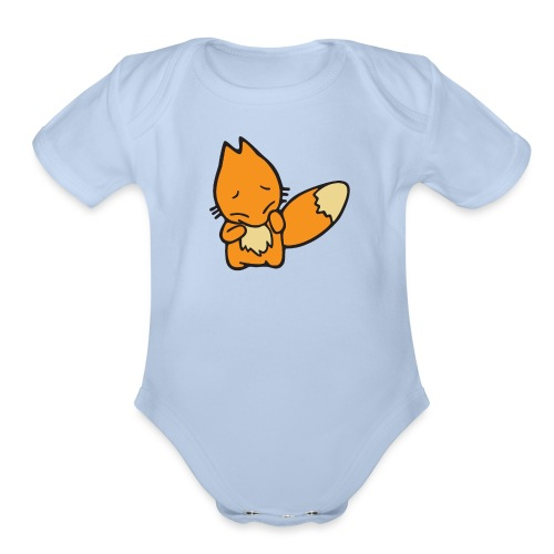 Scaredy Fox - Organic Short Sleeve Baby Bodysuit