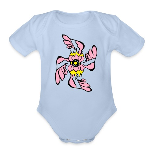 eye for eye - Organic Short Sleeve Baby Bodysuit
