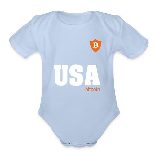 USA Bitcoin - Organic Short Sleeve Baby Bodysuit