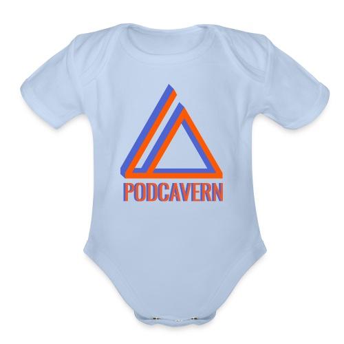 PodCavern Logo - Organic Short Sleeve Baby Bodysuit