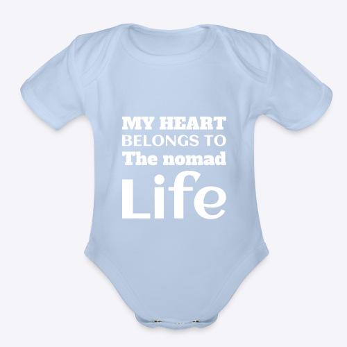 My Heart Belongs to the Nomad Life - Organic Short Sleeve Baby Bodysuit