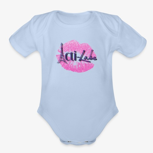 kiss - Organic Short Sleeve Baby Bodysuit
