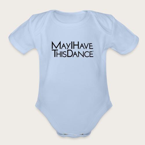MAYI shirt logo black - Organic Short Sleeve Baby Bodysuit