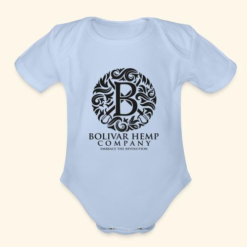 logo source - Organic Short Sleeve Baby Bodysuit