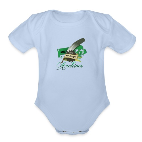 the magnus Logo - Organic Short Sleeve Baby Bodysuit