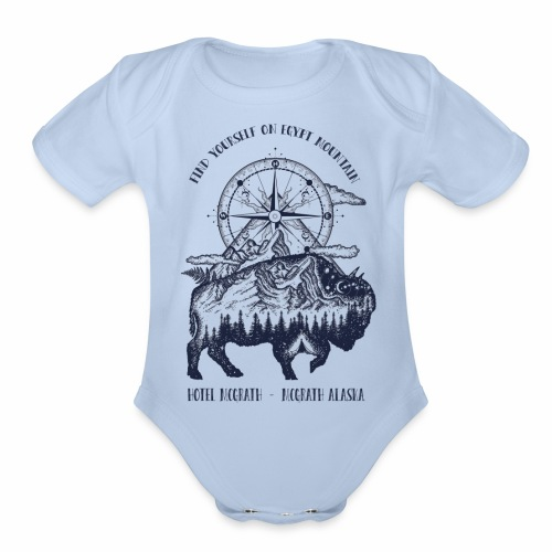 EGYPT MOUNTAIN TSHIRT - Organic Short Sleeve Baby Bodysuit