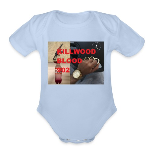 Killwood Blood 902 - Organic Short Sleeve Baby Bodysuit