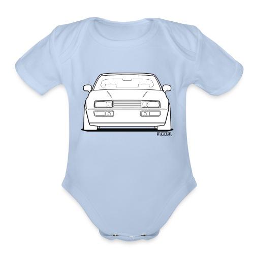Wolfsburg Rado Outline - Organic Short Sleeve Baby Bodysuit