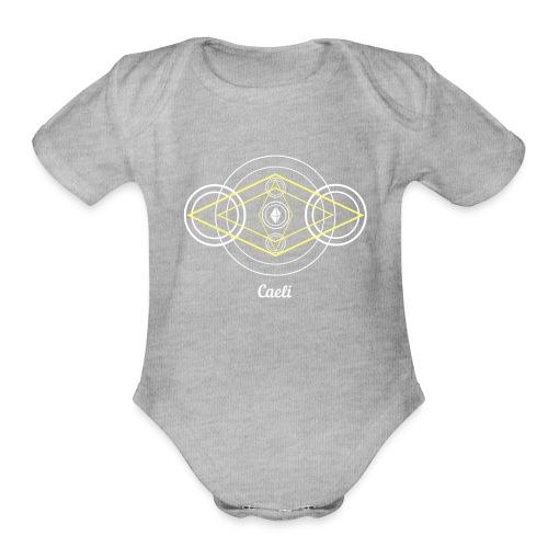 Caeli Air Element Alchemy Diagram - Organic Short Sleeve Baby Bodysuit