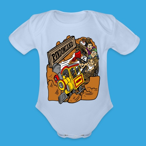 Wild West Mine Train - Organic Short Sleeve Baby Bodysuit